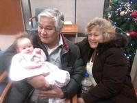 With wife Cecelia and grand-daughter Isabelle