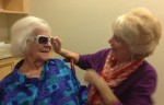 Mom and Denise...sharing a Hollywood moment!
