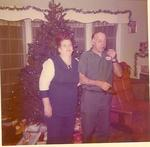 Marie & her husband Paul Christmas 1970's