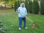 Ma B raking leaves 10/ 26/2012