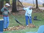 Ma B and Son Leaf Raking Service 10/26/2012