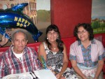 Pat's 90th Birthday Celebration with daughters, Jeanne & Annette